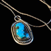 Vintage Handcrafted silver and Turquoise Necklace