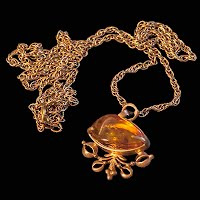 Vintage Gold and Amber Necklace