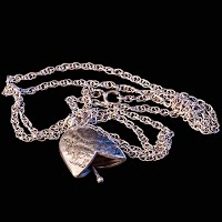 Vintage Silver Bell Necklace