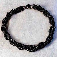Antique Black Bead Necklace