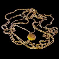 Vintage Gold tone Chains and Locket Necklace