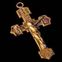 Vintage Czechoslovakia Cross Pendant