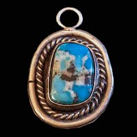Vintage Turquoise and Silver Pendant
