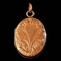 Antique Gold Locket Pendant