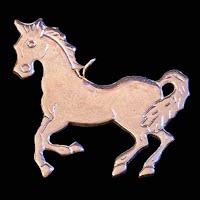 Vintage Silver Horse Pendant