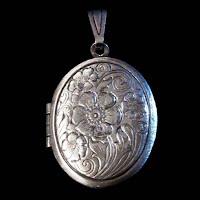 Antique Silver Locket Pendant