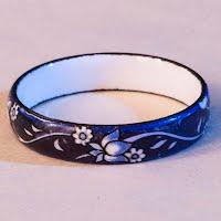 Vintage Michaela Frey Blue Enamel Ring