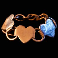 Vintage 3 Hearts Chain Ring