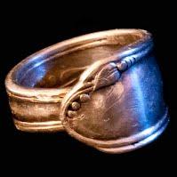 Vintage Silverplate Spoon Ring