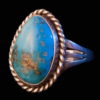 Vintage Handcrafted Turquoise Silver Ring