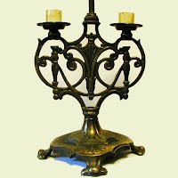 Antique Metal Candle Lamp