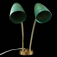 Vintage Mid Century Modern Goose Neck Lamp,1950, fiberglass