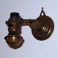 Antique Brass Nautical Gimbal Ships Table or Wall Lamp, 1930's