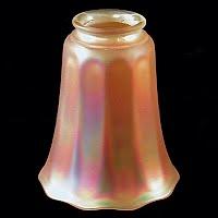 Antique Iridescent Glass Shade, NuArt Glass