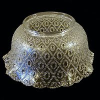 Antique Clear Glass Shade, 1890's