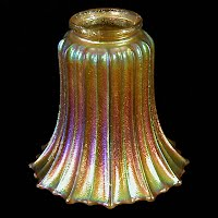 Antique Marigold Iridescent Glass Shade #575, Imperial Glass Company