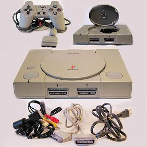 Vintage Original Playstation PSI Console, extension cables, hookups