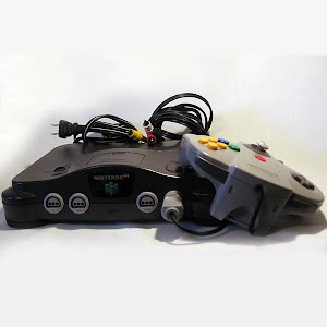 Vintage Nintendo 64 Console with hookups and controller