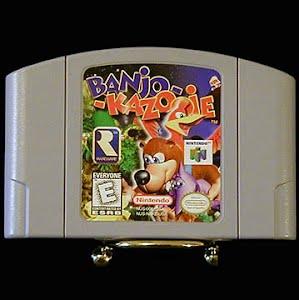 Vintage Original N64 Nintendo Banjo Kazooie Game Cartridge