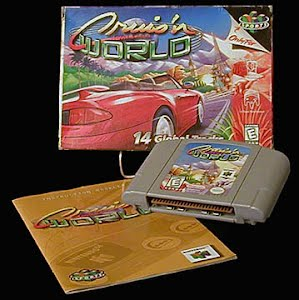 Vintage Original N64 Nintendo Cruis'n World Game Cartridge