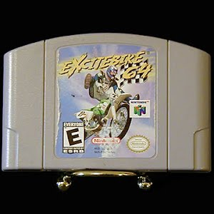 Vintage Original N64 Nintendo 64 ExciteBike 64 Game Cartridge