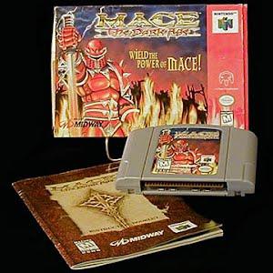 Vintage Original N64 Nintendo 64 Mace The Dark Ages Game Cartridge