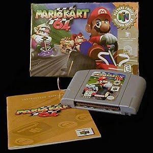 Vintage Original N64 Nintendo 64 Mario Kart 64 Game Cartridge