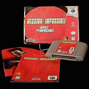 Vintage Original N64 Nintendo 64 Mission Impossible Game Cartridge
