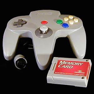 Vintage  Original N64 Gray Nintendo 64 Controller with Memory Card
