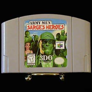 Vintage Original N64 Nintendo Army Men Sarges Heroes Game Cartridge