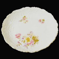 Antique hand painted flower plate