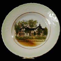 Antique China Plate, Janesville High School, Janesville, Minnesota