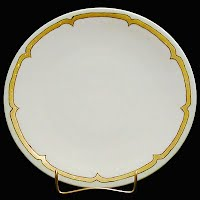 Antique Bavaria China Plate with gold trim