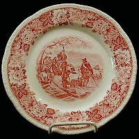 Vintage Historical America Purchase of Manhattan Island 1626, Homer Laughlin China Plate