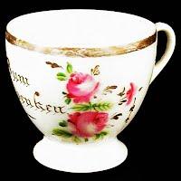 Antique Porcelain German Cup, Bum Audenkeu