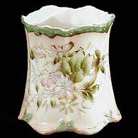 Antique Porcelain Toothpick Holder, hand painted