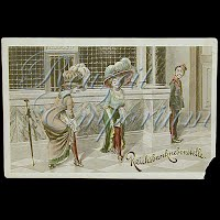 Antique Advertising German Postcard