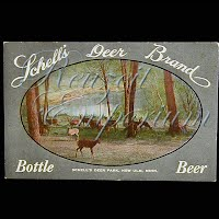 Antique Advertising Postcard, Schells Deer Brand Beer
