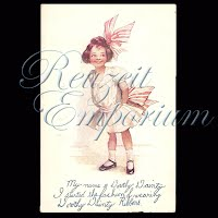 Antique Advertising Postcard, Dorothy Dainty Ribbons