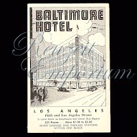 Antique Advertising Postcard, Baltimore Hotel