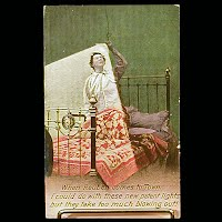 Antique Bamforth Postcard, When Reuben