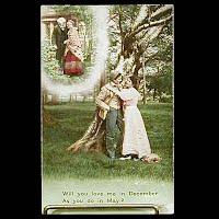 Antique 1914 Bamforth Postcard, Love Me