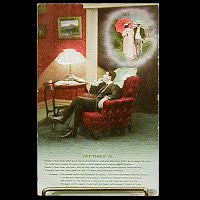 Antique 1909 Bamforth Postcard, Oft Times