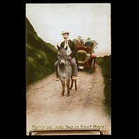 Antique 1909 Bamforth Postcard, Hurry Up