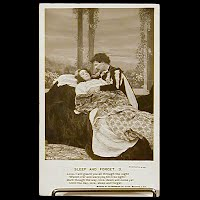 Antique Bamforth Postcard, Sleep and Forget
