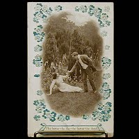 1911 Antique Bamforth Postcard, The better the day the better the deed