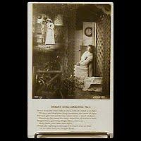 Antique Bamforth Postcard, Bright Eyes Good-bye, copyright 1906