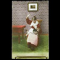 1909 Antique Bamforth Postcard,Getting at the bottom of it