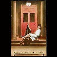 Antique Bamforth Postcard, Now I lay me down to sleep