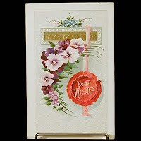 Antique Embossed Postcard, Best Wishes